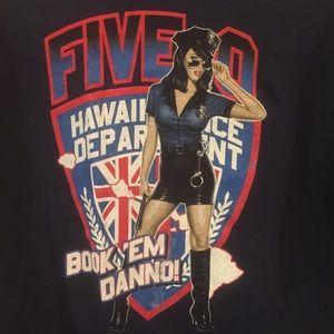 Hawaii Five-0 Tee | Size Large | Navy | GUC